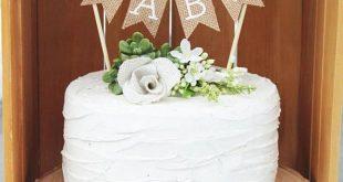 Hello Baby Cake Topper, Baby Shower Cake Topper, Hello World, Rustic Baby Shower Decor, Gender Neutral Cake Topper, Burlap Cake Topper