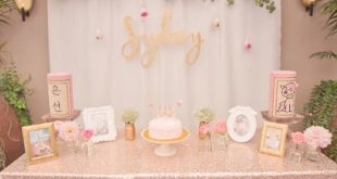 Pink + Gold Bohemian Dohl Birthday Party