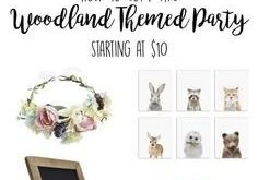 Woodland Theme Party Ideas - Baby Shower, Birthday Party, Rustic Wedding