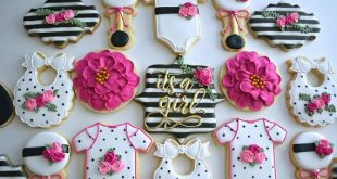One Dozen It's a Girl Baby Shower Sugar Cookies - Decorated Sugar Cookies