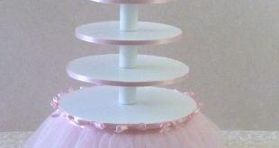 Ballerina-Geburtstagsfeier 5-Tier-Cupcake-Turm mit Tutu #ballerina #cupcake #ge...