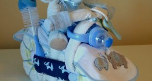 Elephant Motorcycle Diaper Cake Baby Shower Centerpiece Boy, Girl, Gender Neutral Made To Order Unique Baby Shower Welcome Baby Home Present