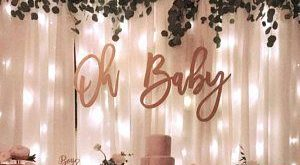Oh Baby Wood Baby Shower Sign || baby shower backdrop keepsake gift gender reveal baby announcement photo shoot prop