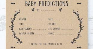 Ein wunderschönes Set geschlechtsneutraler Baby-Vorhersagekarten. Ein aufregender Weg zu enga