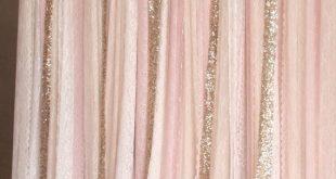 #PartyDecorations-Licht Pfirsich rosa weiß Lace, Sparkle Stoff Photobooth Hinte...