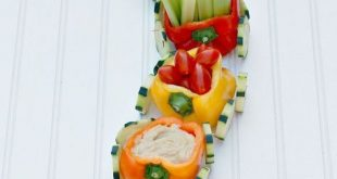 Veggie Train with Hummus Dip - Kid-Friendly Appetizer for Parties