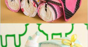12 Super Cute Diaper Cake Ideas for Baby Showers-#baby #cake #Cute #Diaper #Idea...
