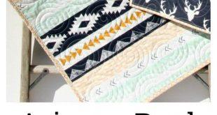 Aztec Baby Quilt - Modern Baby Quilt - Baby Stag Quilt - Boho Nursery Decor - Baby Shower Gift - Mon