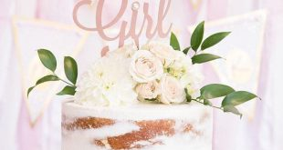 Baby Girl Cake Topper, Baby Dusche Cake Topper, Geschlecht offenbaren Cake Toppe...