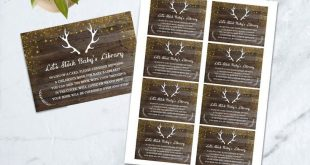Book Request Baby Shower Game, Boy Rustic Baby Shower, Bring a Book Instead Card...