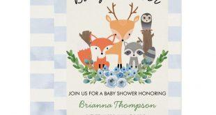 Boy's Woodland Baby Shower Invitation | Zazzle.com
