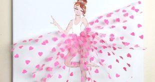Diese charmante kleine Ballerina in einem schönen rosa Tutu wird einen Hauch vo...