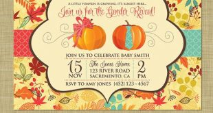 Fall Gender Reveal Invitation // Pumpkin Patch Autumn Theme Gender Reveal Party ...