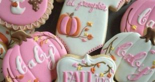 Fall baby girl shower cookies – Fall Baby Shower Ideas