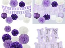 Find great deals for Elephant PURPLE Baby Shower Decorations It's A Girl Ban...
