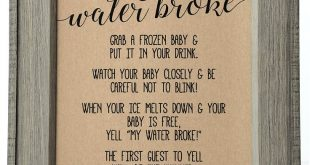 My Water Broke Baby Shower Game, My Water Broke Baby Shower Sign