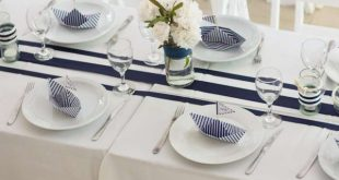 Nautical Baptism Party Table! See more party planning ideas at CatchMyParty.com...
