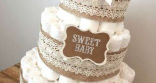New Baby Shower Rustic Diy Diaper Cakes Ideas