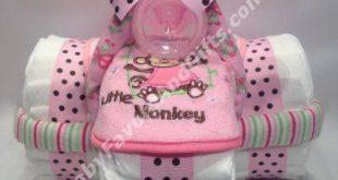 Pink für mädchen dreirad windel kuchen babyfavorsandgift