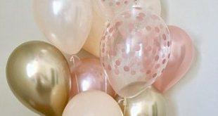 Rose Gold Peach Chrome Gold & Pearl White Latex Balloons~Wedding~Bridal Shower~First Birthday~Fall Balloons~Bachelorette~Rose Gold Balloons