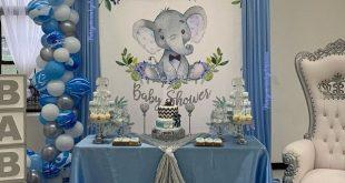 Schöne ITS A BOY Baby Shower Zeichen, Boy Elephant Baby Shower Zeichen, zwei Möglichkeiten – 4 x 6 Fuß andere Größen und Farben auch – Digital bedruckbar