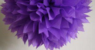 ULTRA VIOLET tissue paper pom wedding engagement reception decorations bright purple baby bridal shower girl first 30th birthday mcstuffins