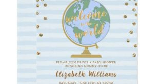 Welcome to the World Globe Baby Shower Invitation | Zazzle.com